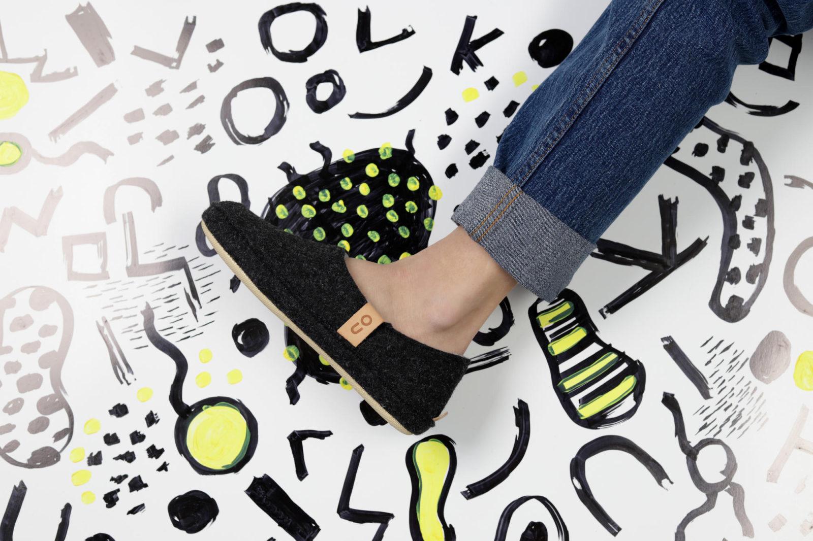 Dark gray indoor shoes
