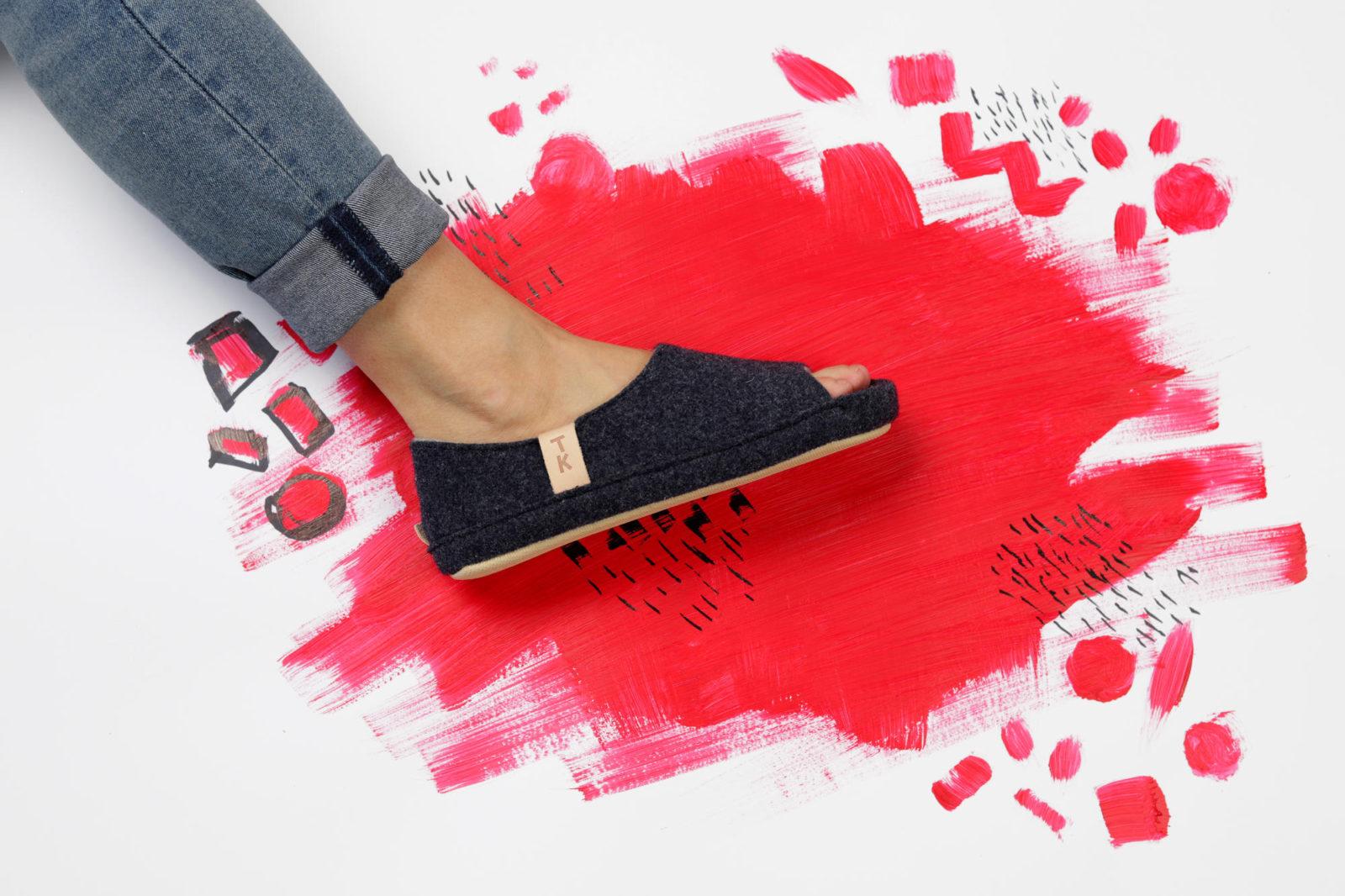 handmade wool slippers Toku Bern