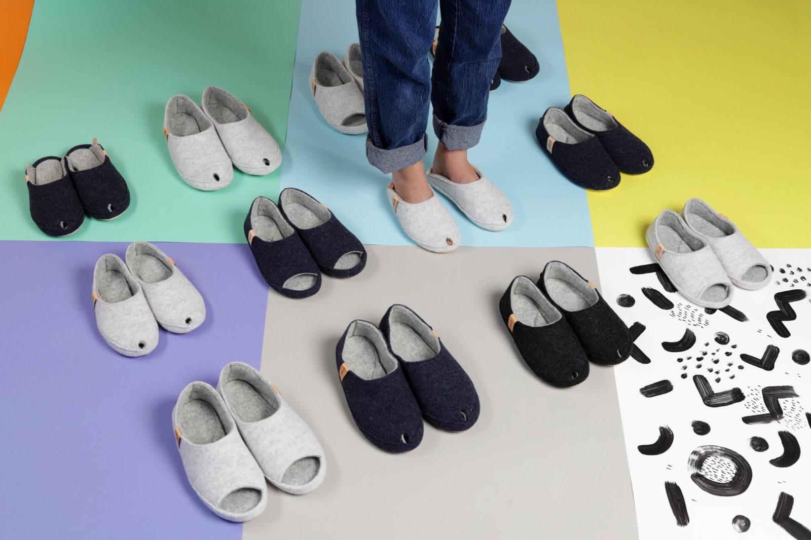 natural indoor slippers