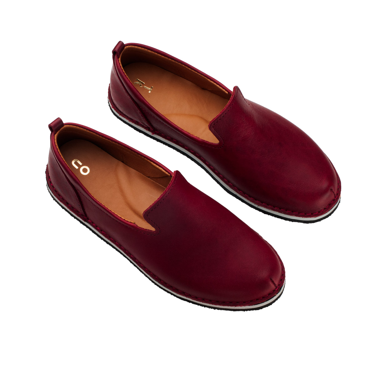 London leather loafers